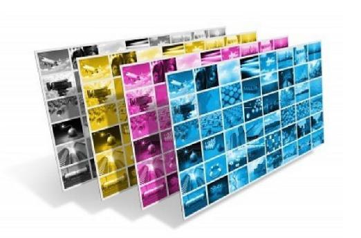 Xuất phim thành 4 tấm với 4 màu đại diện